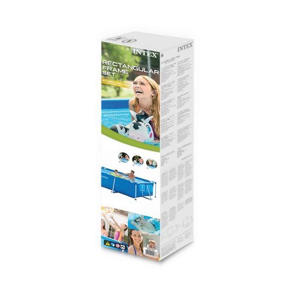 INTEX 28270 インテックス Rectangular Frame Pool レクタングラ フレームプール 長方形 プール 幅220cm奥行150cm|3love|04