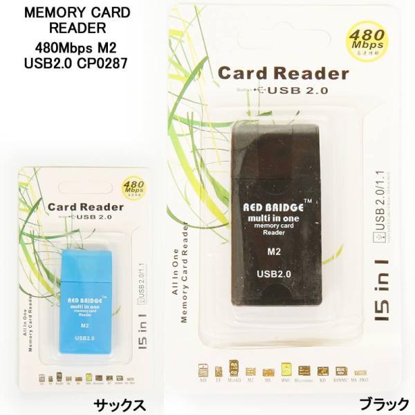 MEMORY CARD READER メモリーカードリーダー 480Mbps M2 USB2.0 CP0287 メモリーカード USB フラッシュカード
