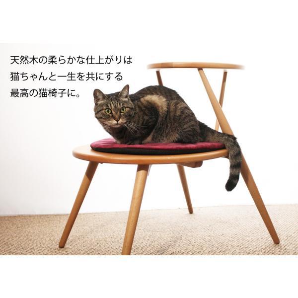 キャットタワー おしゃれ 木製ベッド ペット用品 洗えるクッション 北欧デザイン 猫用家具 egg|3queue|02