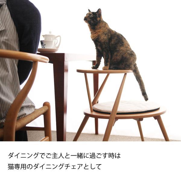 キャットタワー おしゃれ 木製ベッド ペット用品 洗えるクッション 北欧デザイン 猫用家具 egg|3queue|03