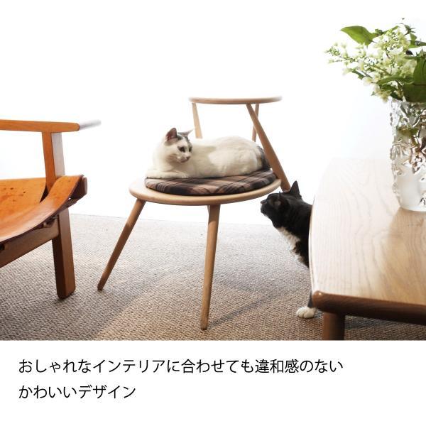 キャットタワー おしゃれ 木製ベッド ペット用品 洗えるクッション 北欧デザイン 猫用家具 egg|3queue|04