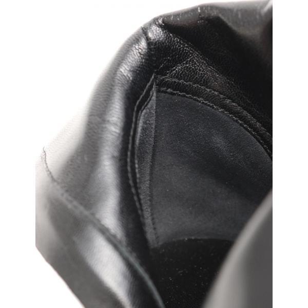 新品未使用展示品 CHANEL シャネル ココマーク サイドジップ ショートブーツ レザー 黒 メーカーサイズ34C 参考サイズ21cm【本物保証】