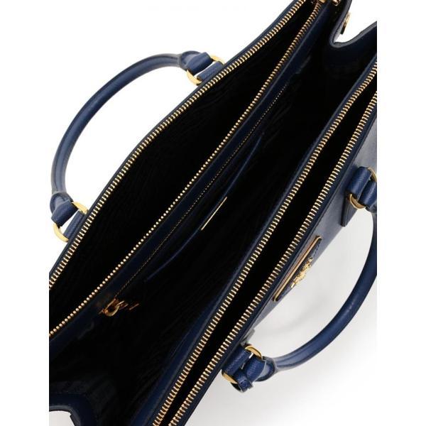 超美品 PRADA プラダ SAFFIANO LUX ガレリア ハンドバッグ BN1786 サフィアーノレザー ネイビー【本物保証】
