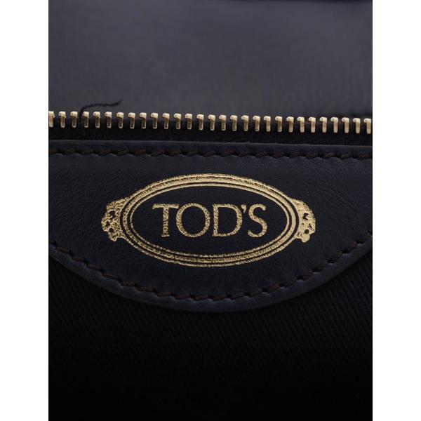 超美品 TOD'S トッズ ハンドバッグ ショルダーバッグ レザー 紫 白 2WAY レディース【本物保証】