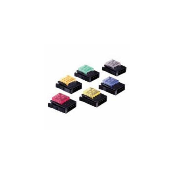 【スリーエムジャパン】37104-2165-000FL 10個入り/ワイヤーマウントプラグ/4極/カバー色:青/適合電線:AWG No.20-22/仕上り外径:1.2mm-1.6mm