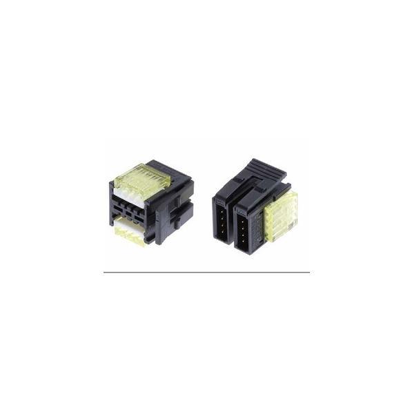 【スリーエムジャパン】37106-2124-0W0FL 10個入り/ワイヤーマウントプラグ/6極(3極*2列)/カバー色:緑/適合電線:AWG No.20-22/仕上り外径:1.0mm-1.2mm
