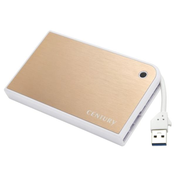 センチュリー CMB25U3GD6G MOBILE BOX USB3.0接続 SATA6G 2.5インチHDD/SSDケース