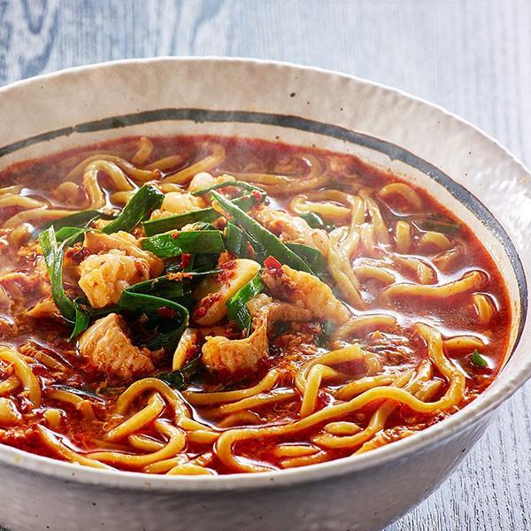 辛麺(1人前) 麺に絶妙に絡むピリ辛スープがクセになる辛麺。奥深いコクが後を引きます。|400804|03
