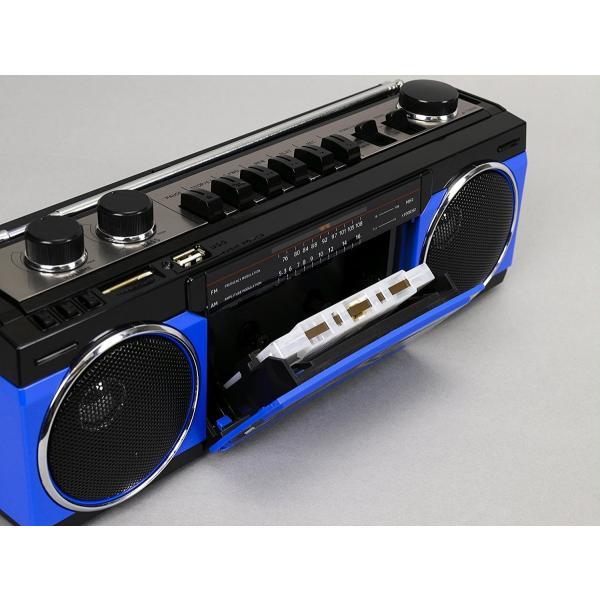 アナログ デジタル ステレオ ラジカセ SANSUI SCR-B2  Bluetooth MP3 スピーカー 80年代 レトロデザイン|49shop|11