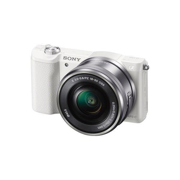 SONY ミラーレス一眼 α5100 パワーズームレンズキット E PZ 16-50mm F3.5-5.6 OSS付属 ホワイト ILCE-5100L-W