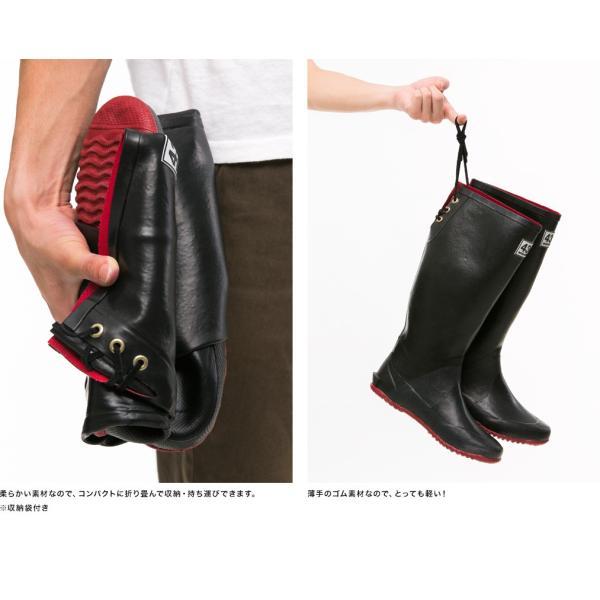 レインブーツ 長靴 折りたたみ パッカブル レディース ショート 全4種類 リボン 付き 折りたたみレインブーツ 43Degrees|4ss|06