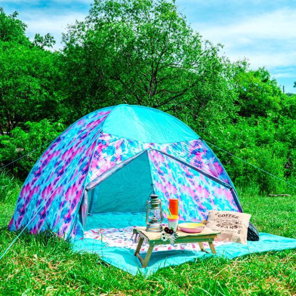 テント ワンタッチテント 4人用 おしゃれ 簡単 UVカット ポップアップ イベント アウトドア キャンプ 海 運動会 ピクニック|4ss|11