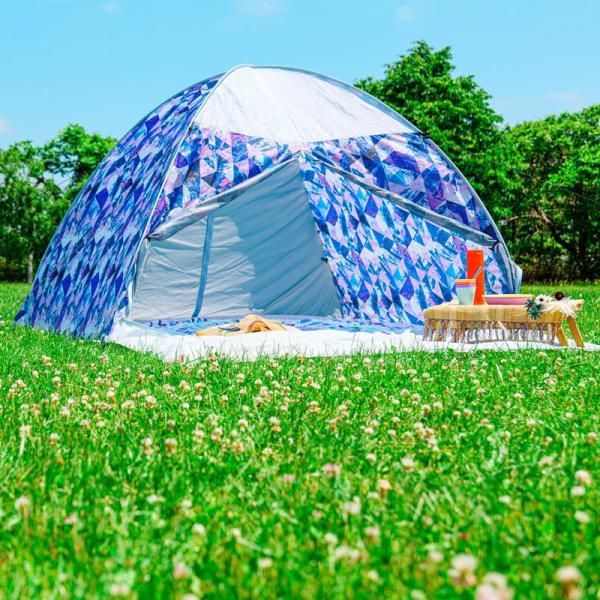 テント ワンタッチテント 4人用 おしゃれ 簡単 UVカット ポップアップ イベント アウトドア キャンプ 海 運動会 ピクニック|4ss|12