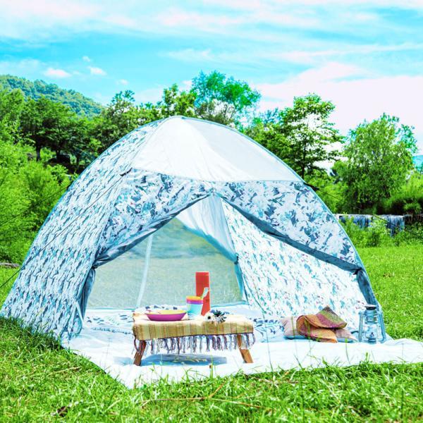 テント ワンタッチテント 4人用 おしゃれ 簡単 UVカット ポップアップ イベント アウトドア キャンプ 海 運動会 ピクニック|4ss|13
