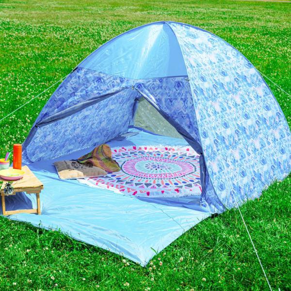 テント ワンタッチテント 4人用 おしゃれ 簡単 UVカット ポップアップ イベント アウトドア キャンプ 海 運動会 ピクニック|4ss|14
