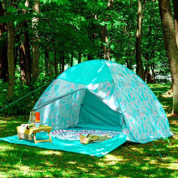 テント ワンタッチテント 4人用 おしゃれ 簡単 UVカット ポップアップ イベント アウトドア キャンプ 海 運動会 ピクニック|4ss|15