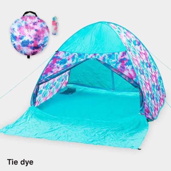 テント ワンタッチテント 4人用 おしゃれ 簡単 UVカット ポップアップ イベント アウトドア キャンプ 海 運動会 ピクニック|4ss|06