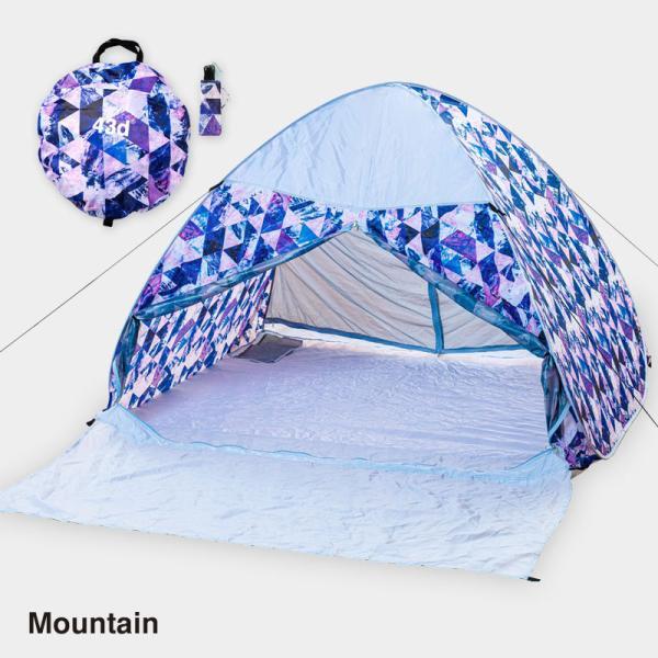 テント ワンタッチテント 4人用 おしゃれ 簡単 UVカット ポップアップ イベント アウトドア キャンプ 海 運動会 ピクニック|4ss|07