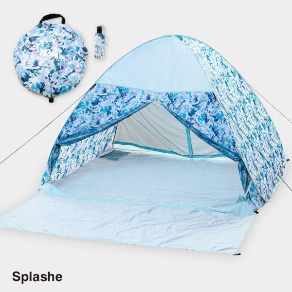 テント ワンタッチテント 4人用 おしゃれ 簡単 UVカット ポップアップ イベント アウトドア キャンプ 海 運動会 ピクニック|4ss|08