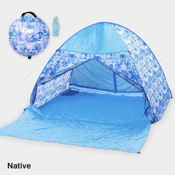 テント ワンタッチテント 4人用 おしゃれ 簡単 UVカット ポップアップ イベント アウトドア キャンプ 海 運動会 ピクニック|4ss|09