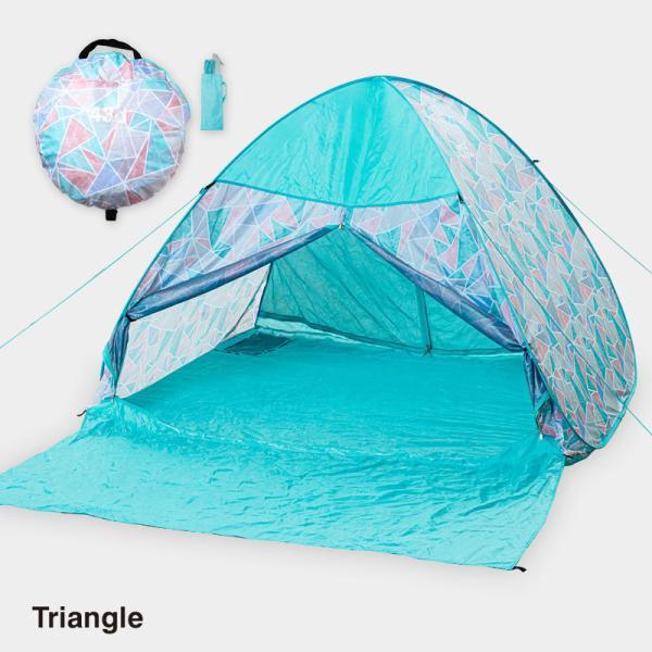 テント ワンタッチテント 4人用 おしゃれ 簡単 UVカット ポップアップ イベント アウトドア キャンプ 海 運動会 ピクニック|4ss|10