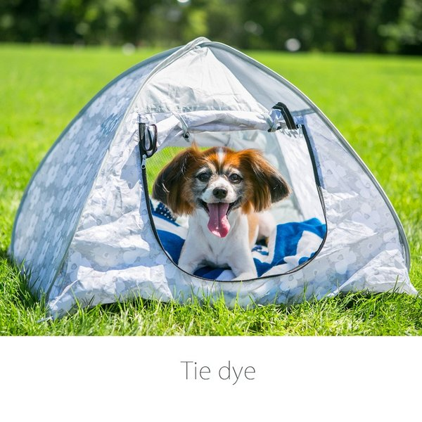 43DEGREES ペット用 テント ワンタッチ サンシェード  ポップアップテント  マット 日よけ 散歩 ケージ|4ss|03