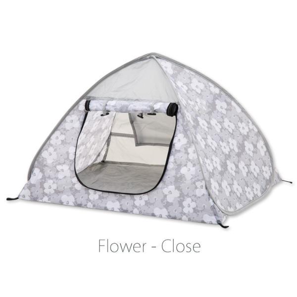 43DEGREES ペット用 テント ワンタッチ サンシェード  ポップアップテント  マット 日よけ 散歩 ケージ|4ss|09