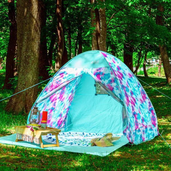 テント 2人用 ワンタッチテント 簡易テント おしゃれ 軽量 UVカット ポップアップ イベント アウトドア サンシェード 海 運動会 ピクニック 一人用|4ss|11