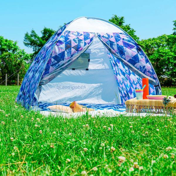 テント 2人用 ワンタッチテント 簡易テント おしゃれ 軽量 UVカット ポップアップ イベント アウトドア サンシェード 海 運動会 ピクニック 一人用|4ss|12