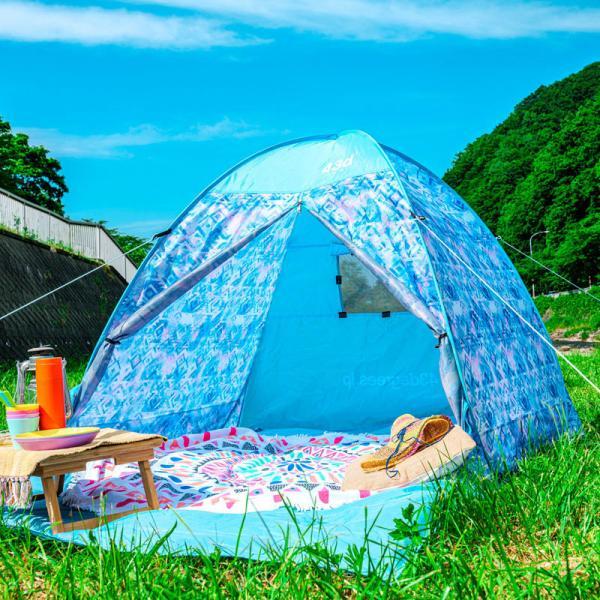 テント 2人用 ワンタッチテント 簡易テント おしゃれ 軽量 UVカット ポップアップ イベント アウトドア サンシェード 海 運動会 ピクニック 一人用|4ss|14