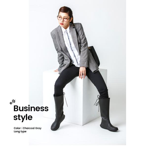 レインブーツ ロング レディース おしゃれ 軽量 折りたたみ パッカブル リボン 編み上げ 長靴 低反発 インソール付 43DEGREES 43d|4ss|09
