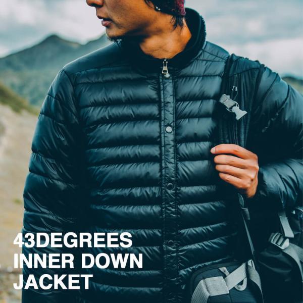 43DEGREES インナーダウンジャケット インナー ダウン ダウンジャケット 軽量 メンズ レディース|4ss