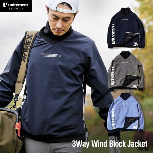 unitement ゴルフウェア 3WAY Wind Block Jacket