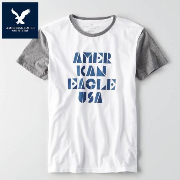 アメリカンイーグル 半袖 Tシャツ USAモデル メンズ AE American Eagle 正規品 ae2005|5445