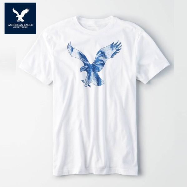 アメリカンイーグル 半袖 Tシャツ USAモデル メンズ AE American Eagle 正規品 ae2007 ホワイト|5445