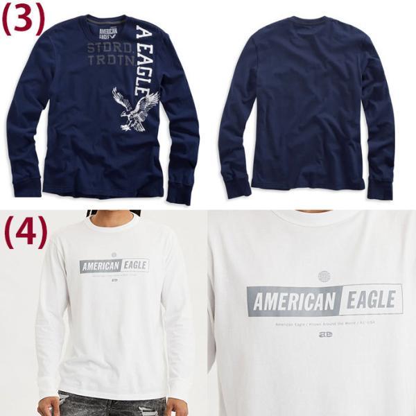 アメリカンイーグル メンズ  ロングTシャツ ae261 ホワイト ブラック ネイビー オリーブ|5445|03