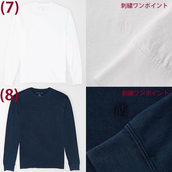 アメリカンイーグル メンズ  ロングTシャツ ae261 ホワイト ブラック ネイビー オリーブ|5445|05