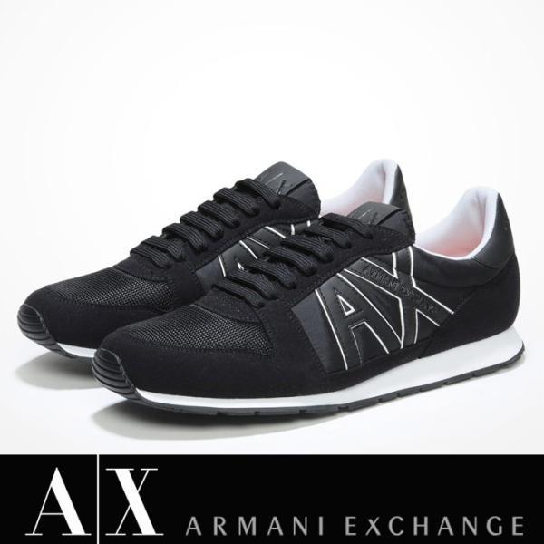 A/X アルマーニ エクスチェンジ シューズ ARMANI EXCHANGE カジュアル 靴 ax635 ブラック|5445