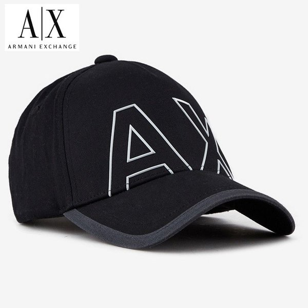 A/X アルマーニ・エクスチェンジ・ユニセックス ARMANI EXCHANGE 正規 キャップ ハット 帽子 ax671 ブラック 黒|5445