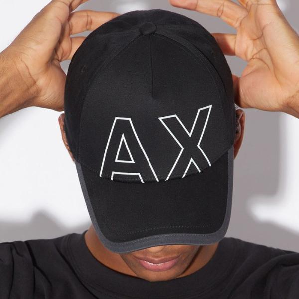 A/X アルマーニ・エクスチェンジ・ユニセックス ARMANI EXCHANGE 正規 キャップ ハット 帽子 ax671 ブラック 黒|5445|02