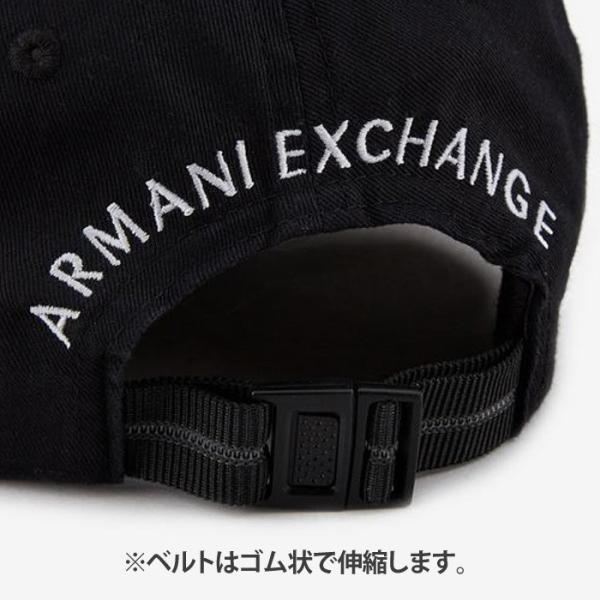 A/X アルマーニ・エクスチェンジ・ユニセックス ARMANI EXCHANGE 正規 キャップ ハット 帽子 ax671 ブラック 黒|5445|03
