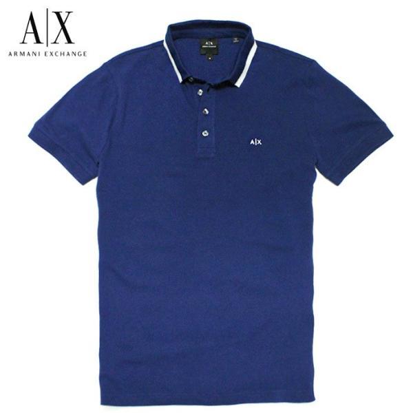 アルマーニエクスチェンジ メンズ  半袖 ポロシャツ  A/X  ARMANI EXCHANGE USA正規品 ax682 ブルー|5445