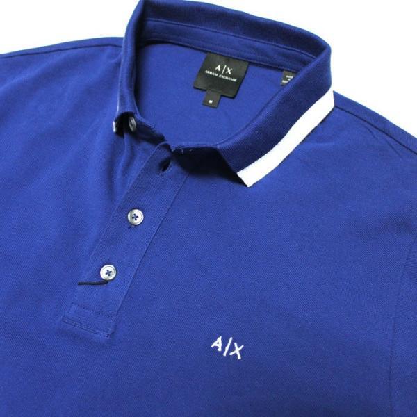 アルマーニエクスチェンジ メンズ  半袖 ポロシャツ  A/X  ARMANI EXCHANGE USA正規品 ax682 ブルー|5445|02