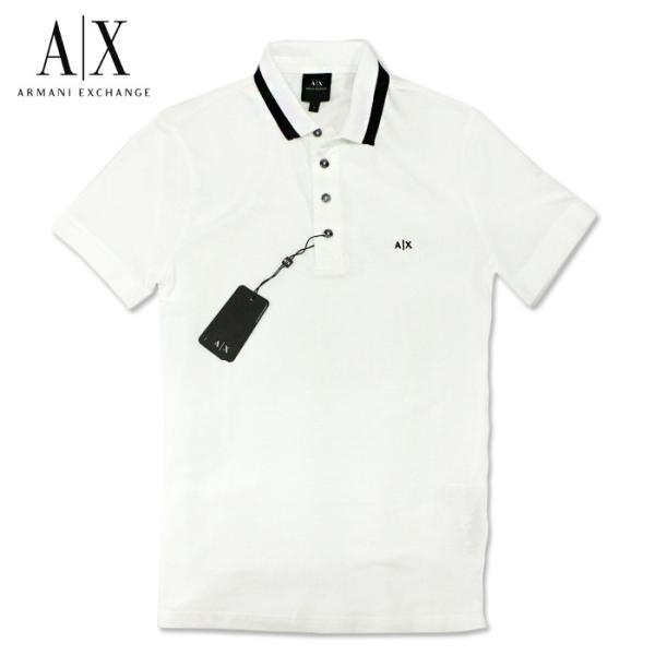 アルマーニエクスチェンジ メンズ  半袖 ポロシャツ  A/X  ARMANI EXCHANGE USA正規品 ax684 ホワイト|5445