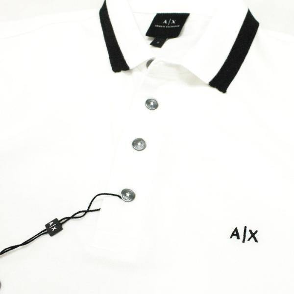 アルマーニエクスチェンジ メンズ  半袖 ポロシャツ  A/X  ARMANI EXCHANGE USA正規品 ax684 ホワイト|5445|02
