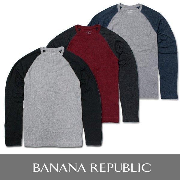 BANANA REPUBLIC バナナリパブリック ロングTシャツ 長袖Tシャツ ba316 グレー 5445