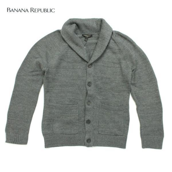 BANANA REPUBLIC バナナリパブリックメンズ ニットカーディガン 長袖 ba343 グレー|5445