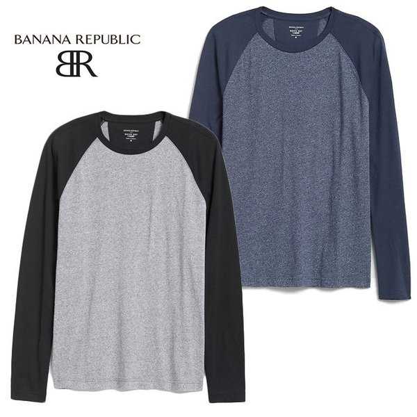 BANANA REPUBLIC バナナリパブリック バナリパ メンズ ロンT 長袖 ba357 ブラック|5445