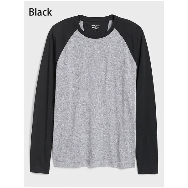 BANANA REPUBLIC バナナリパブリック バナリパ メンズ ロンT 長袖 ba357 ブラック|5445|02