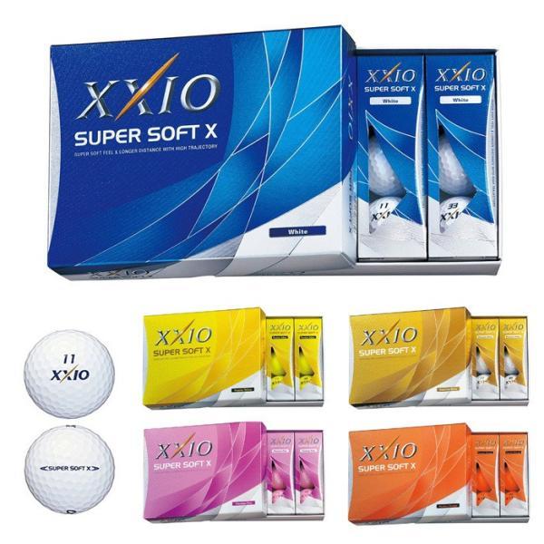 日本正規品 DUNLOP ダンロップ XXIO ゼクシオ スーパーソフト X スーパーソフトエックス ゴルフボール 1ダース 12個入り du01|5445